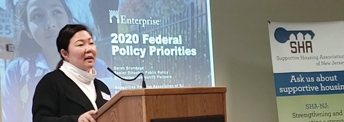 Sarah Brundage, Enterprise Community Partners, SHA Meeting Feb 5, 2020