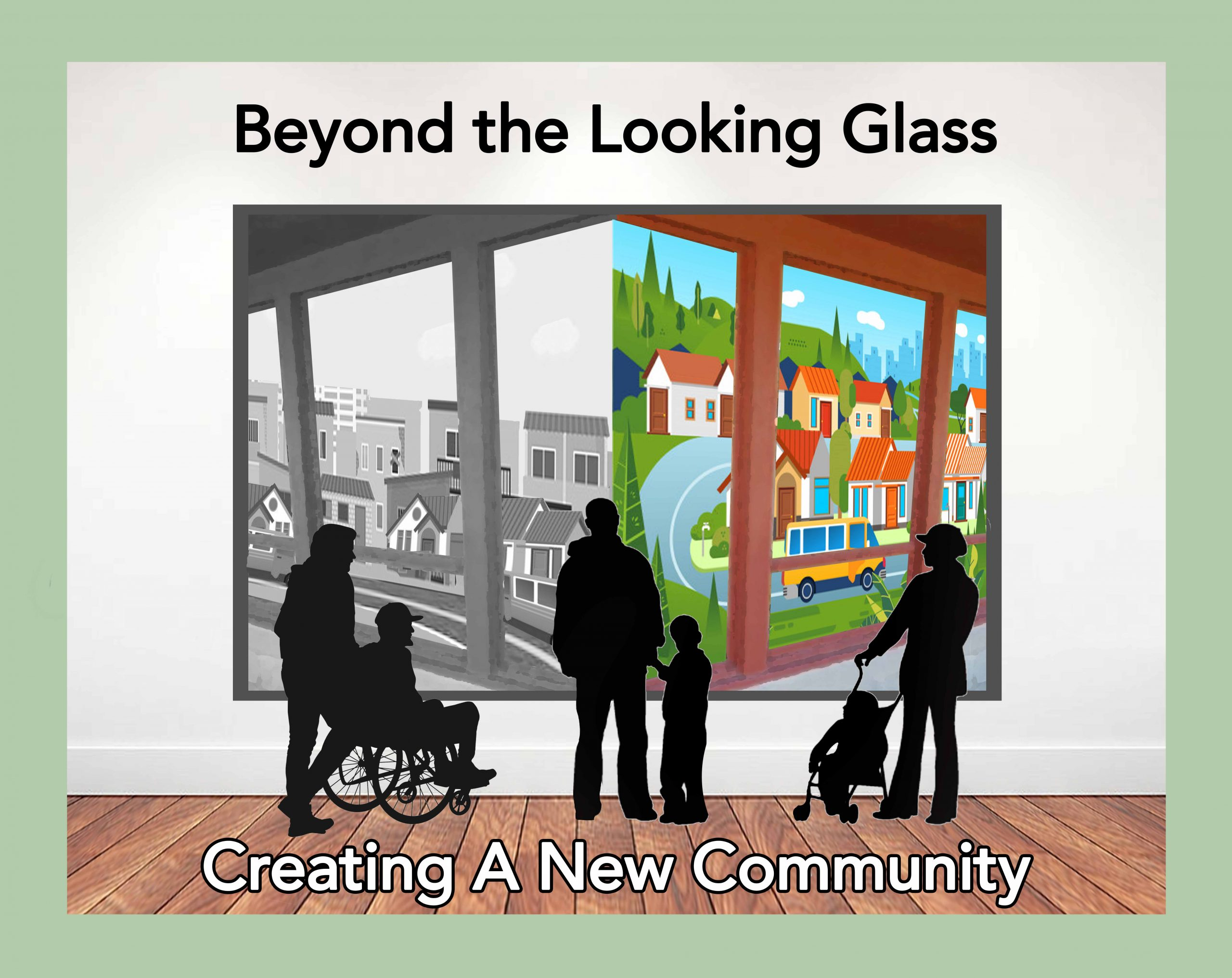 Logo - Beyond the Looking Glass Creating a New Community
